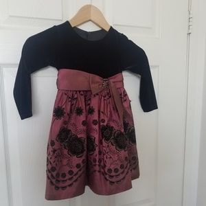 Iris & Ivy formal girls dress 3T fully lined w/Bow